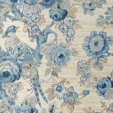 Blue/Slate Botanical Wallcovering by Lee Jofa Wallpaper
