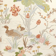 Apricot Botanical Wallcovering by Lee Jofa Wallpaper