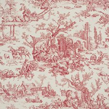 Crimson Toile Wallcovering by Brunschwig & Fils