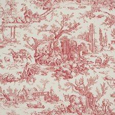 Crimson Toile Wallcovering by Brunschwig & Fils