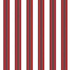 Red Stripes Wallcovering by Brunschwig & Fils