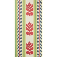 Red/Blue Stripes Wallcovering by Brunschwig & Fils