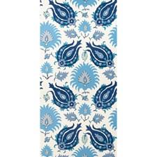 Sapphire Blue Print Wallcovering by Brunschwig & Fils