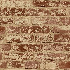 Russet/Khaki/Beige Bricks Wallcovering by York