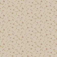 Warm Beige/Peach Blush/Sage Green Floral Mini Wallcovering by York