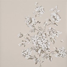 Ivory/Stone Botanical Wallcovering by Baker Lifestyle Wallpaper