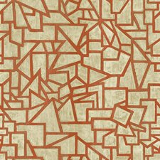 Beige/Tan/Orange Geometrics Wallcovering by York