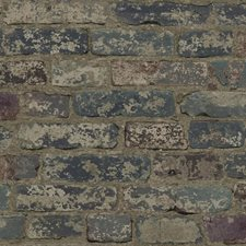 Grey/Dark Red/Taupe Brick Wallcovering by York