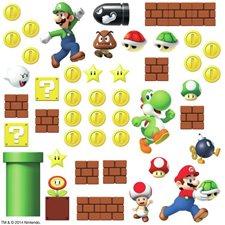 RMK2351SCS Super Mario Build A Scene Decals by York