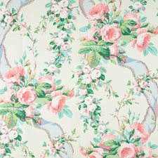 Cream and Pink Print Wallcovering by Lee Jofa Wallpaper