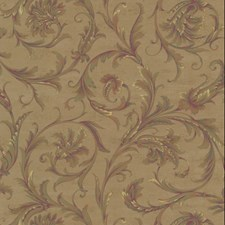 Metallic Gold/Yellow/Green Acanthus Wallcovering by York