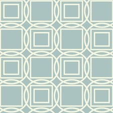 Teal/Cream Dots Wallcovering by York