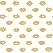 Metallic Gold Glitter/White Novelty Wallcovering by York