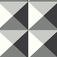 Black/White/Gray Geometrics Wallcovering by York