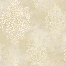Beige Medallion Wallcovering by Brewster