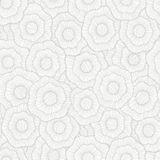Metallic Silver/Grey Floral Wallcovering by York