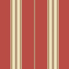 Burnt Orange/Cream/Brown Stripes Wallcovering by York