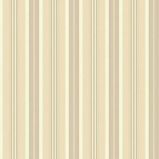 Cream/Beige/Taupe Stripes Wallcovering by York