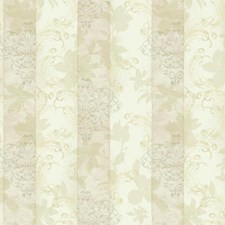 Cream/Yellow/Beige Stripes Wallcovering by York