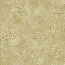 Gold/Beige/Cream Bohemian Wallcovering by York