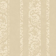 Taupe Pearl/Off White Damask Wallcovering by York