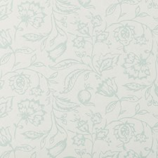Duckegg/Cream Floral Medium Wallcovering by Clarke & Clarke