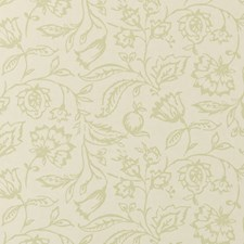 Sage/Cream Floral Medium Wallcovering by Clarke & Clarke