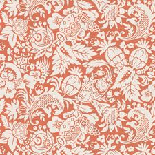 White/Orange Contemporary Wallcovering by Kravet Wallpaper