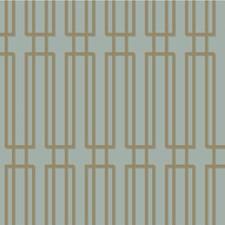 Light Blue/Gold/Grey Modern Wallcovering by Kravet Wallpaper