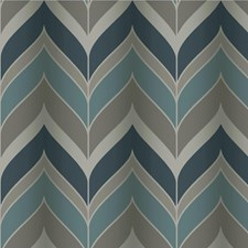 Blue/Silver Contemporary Wallcovering by Kravet Wallpaper