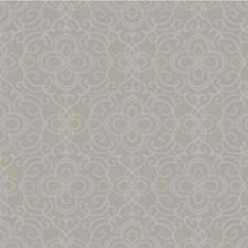 Light Grey/Silver Damask Wallcovering by Kravet Wallpaper