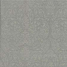 Grey/Silver/Metallic Damask Wallcovering by Kravet Wallpaper