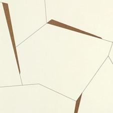 White/Yellow Geometric Wallcovering by Kravet Wallpaper