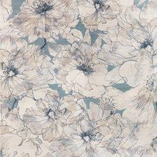 Soft Blue Botanical Wallcovering by Kravet Wallpaper