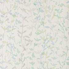 White/Green/Blue Botanical Wallcovering by Kravet Wallpaper