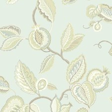 Pale Aqua/Teal/Cocoa Bohemian Wallcovering by York