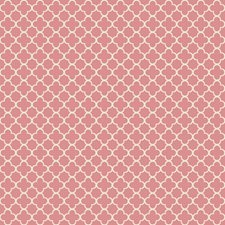 Coral/Ecru Geometrics Wallcovering by York
