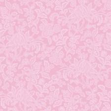 Bubblegum Pink Floral Medium Wallcovering by York