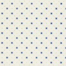 Blue/Gold On White Wallcovering by Scalamandre Wallpaper