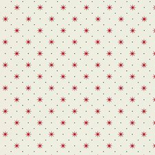 Red/Black On White Wallcovering by Scalamandre Wallpaper