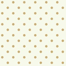 White/Metallic Gold Geometrics Wallcovering by York