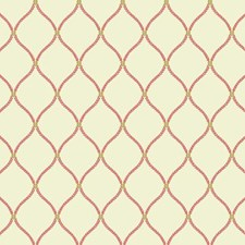 Off-white/Coral/Gold Geometrics Wallcovering by York