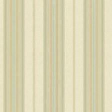Cream/Beige/Teal Stripes Wallcovering by York