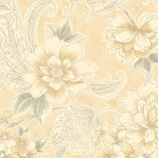 Light Gold Turquoise Wallcovering by Scalamandre Wallpaper