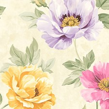 Pink/Yellow Wallcovering by Scalamandre Wallpaper
