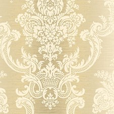 Gold/White Wallcovering by Scalamandre Wallpaper