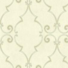 Ochre/Blue Wallcovering by Scalamandre Wallpaper