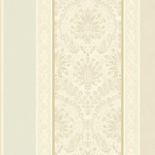 Cream/Turquoise Wallcovering by Scalamandre Wallpaper