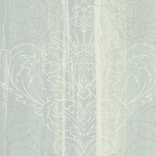 Turquoise/Silver/White Wallcovering by Scalamandre Wallpaper