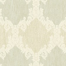Turquoise Cream Wallcovering by Scalamandre Wallpaper